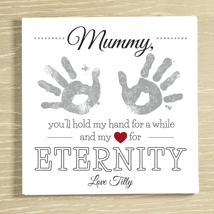 Picture of Eternity HandPrints Mummy personalised chocolate card