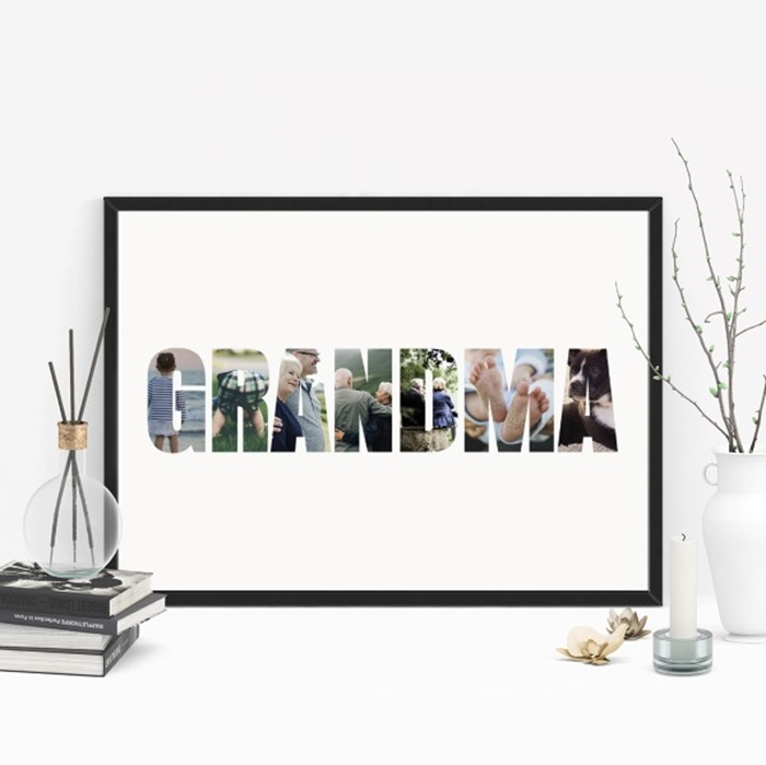 Picture of A3 Grandma photo personalised poster