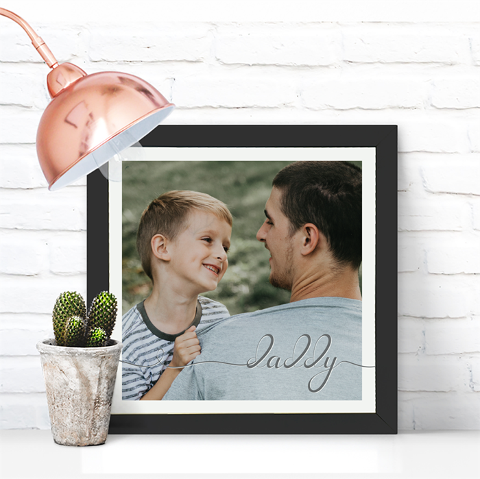 Picture of Square Daddy Script personalised poster