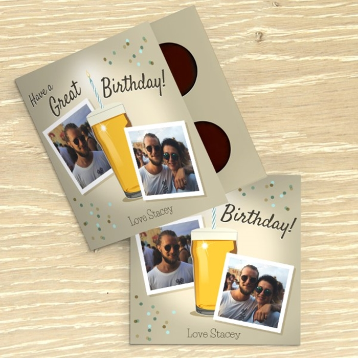 Picture of Birthday Beer personalised chocolate card