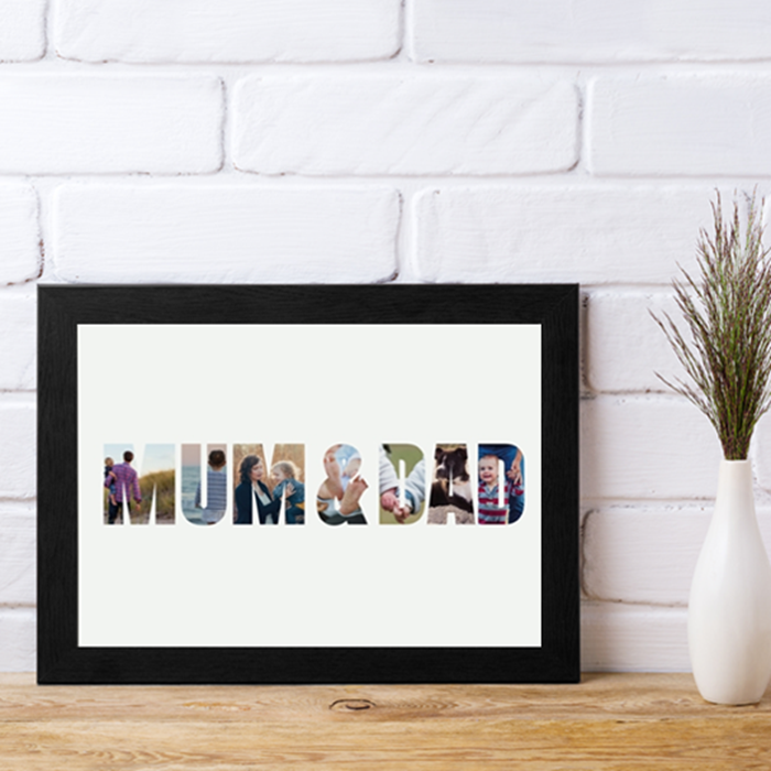 Picture of Mum & Dad Photo personalised poster