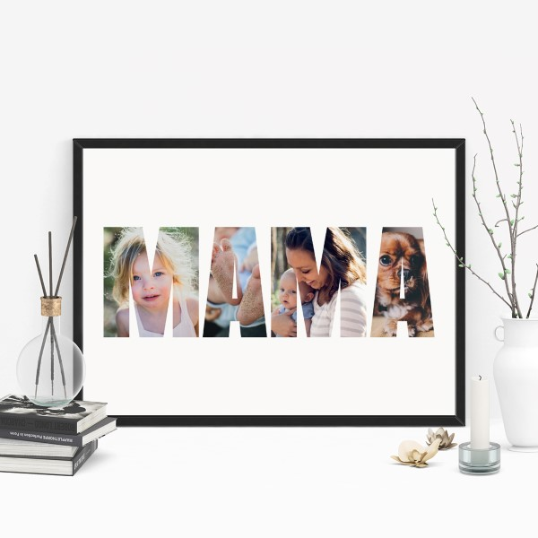 Picture of A3 Mama photo personalised poster