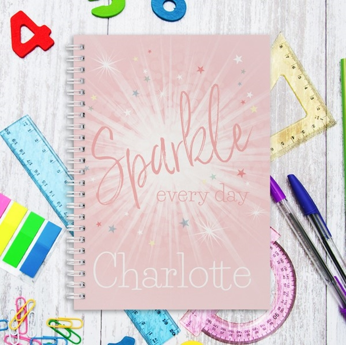 Picture of A5 Sparkle Every Day hardcover spiral notebook