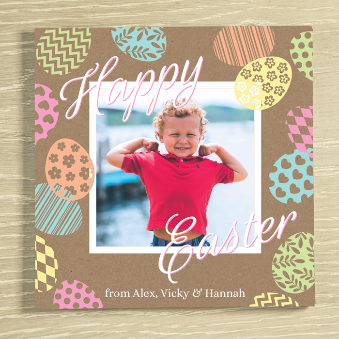 Picture of Easter Egg photo personalised chocolate card