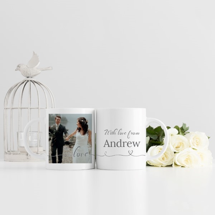 Picture of Love Script personalised mug