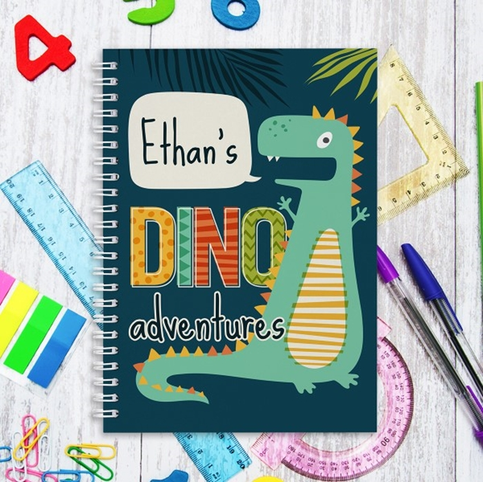 Picture of A5 Dino Adventures hardcover spiral notebook