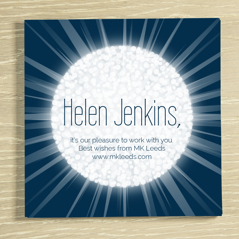 Picture of Any message glow ball personalised chocolate card