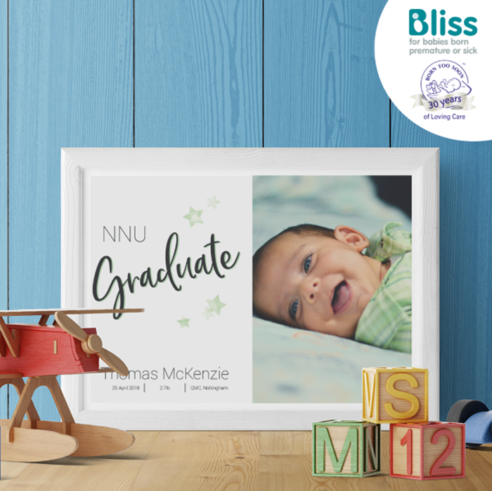 Picture of NNU graduate baby personalised poster