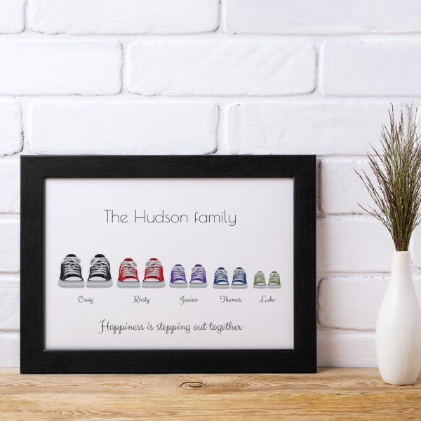 Picture of A4 Converse-style family personalised poster