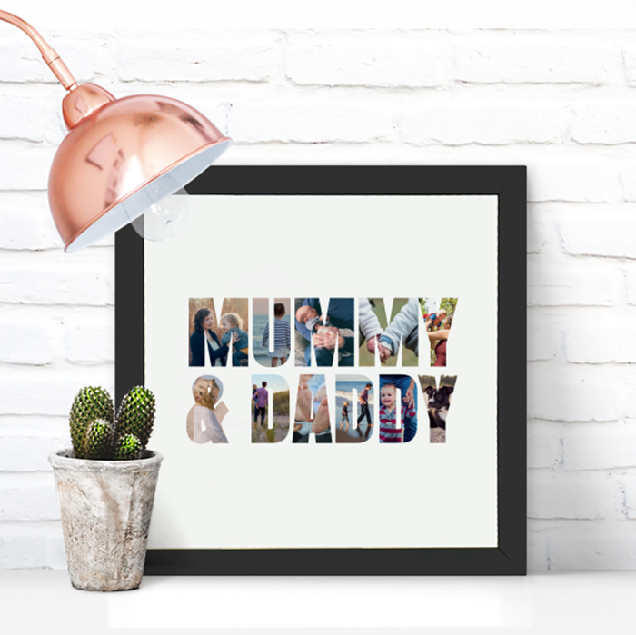 Picture of Square Mummy & Daddy personalised poster
