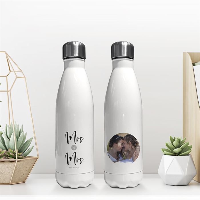 Picture of Mrs & Mrs insulated water bottle