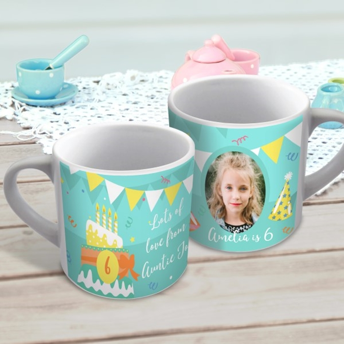 Picture of Birthday child's photo personalised mug