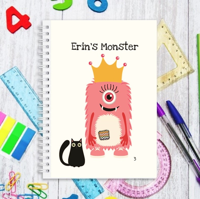 Picture of Erin's Monster Mash winning design notebook