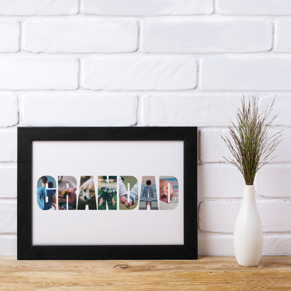 Picture of A4 Grandad photo personalised poster
