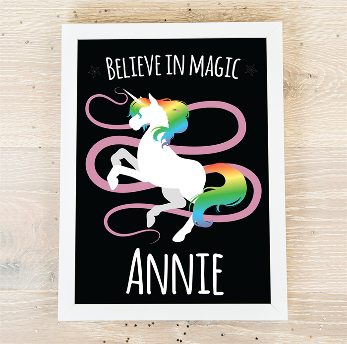 Picture of Dancing Unicorn personalised poster
