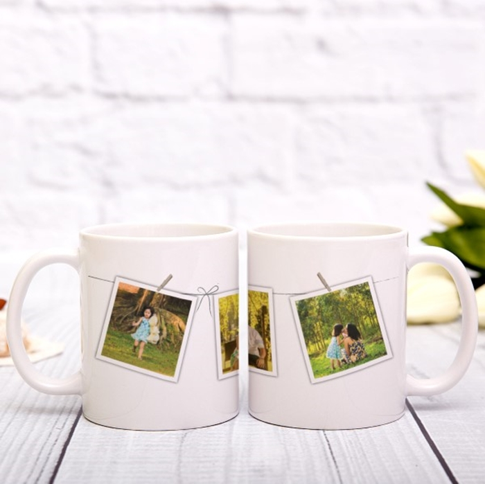 Picture of Washing line photos personalised mug