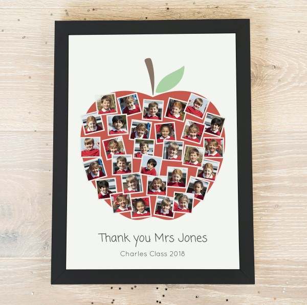 Picture of Teacher Apple photo personalised poster