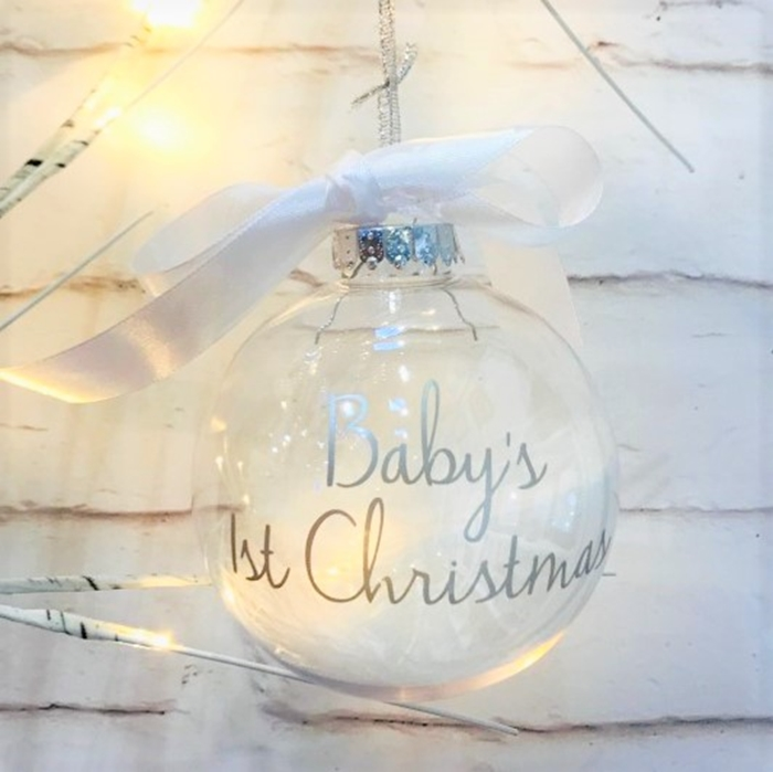 Picture of Baby's Personalised baubles