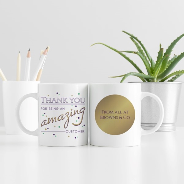Picture of Corporate Thank You Personalised Mug