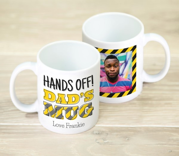 Picture of Hands Off Dad's personalised mug