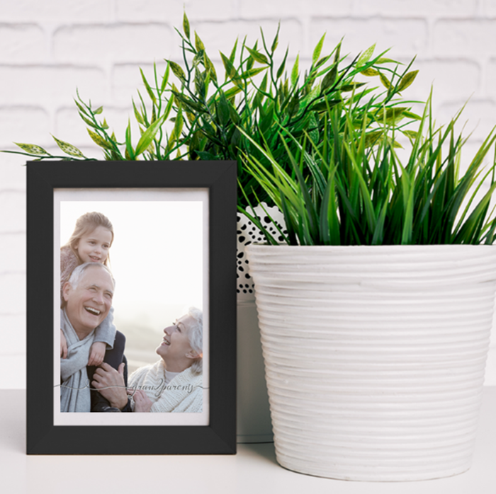 Picture of A5 Grandparents script personalised poster