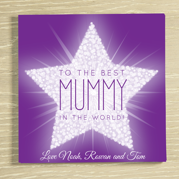 Picture of Mummy Star personalised chocolate card