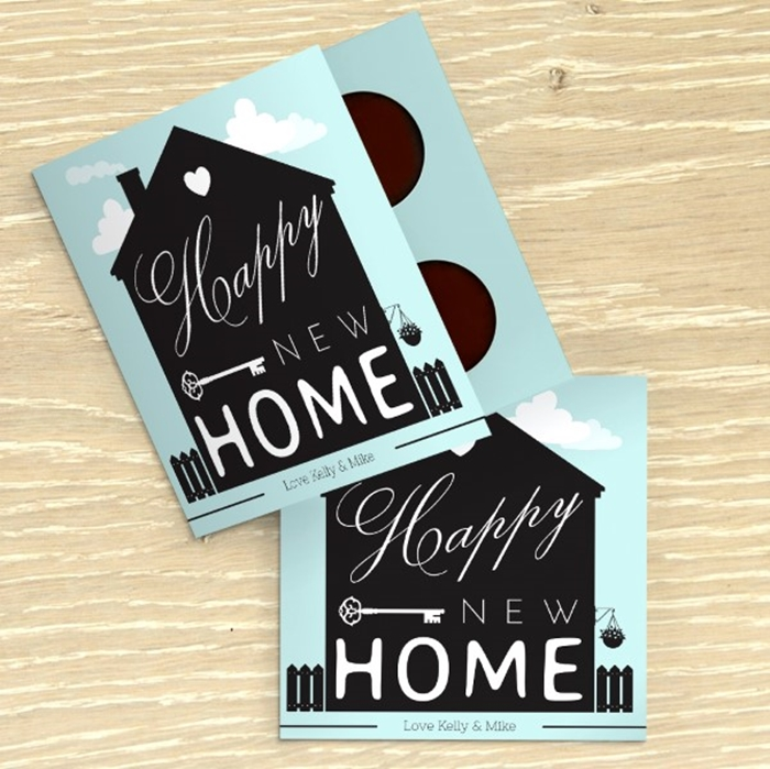 Picture of Happy New Home Personalised Chocolate card