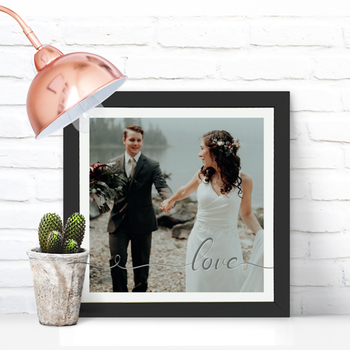 Picture of Square Love Script personalised poster
