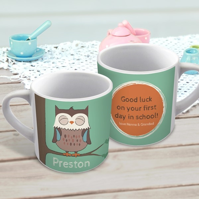 Picture of Sleepy owl child's personalised mug