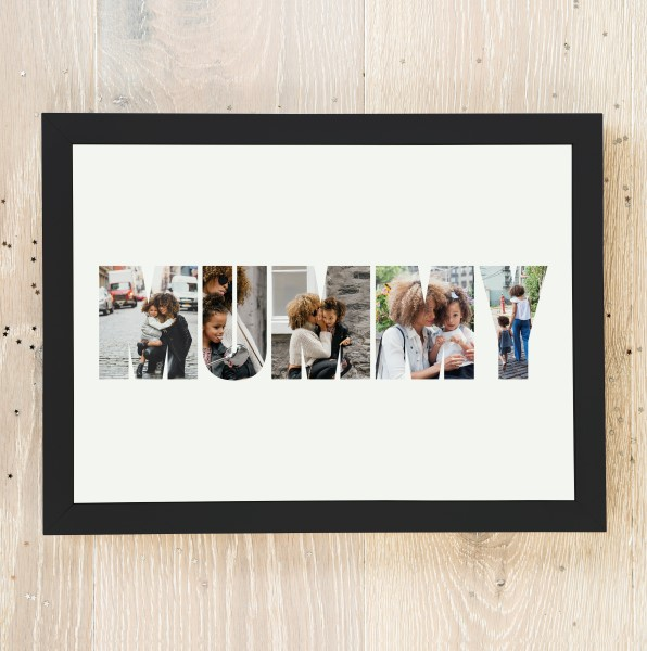 Picture of A3 Mummy photo personalised poster