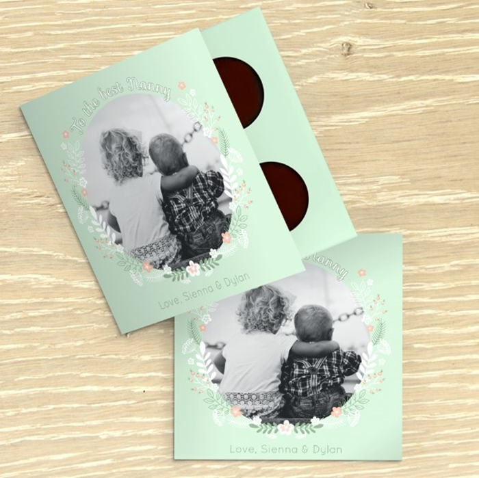 Picture of Best Nanny Personalised Chocolate card