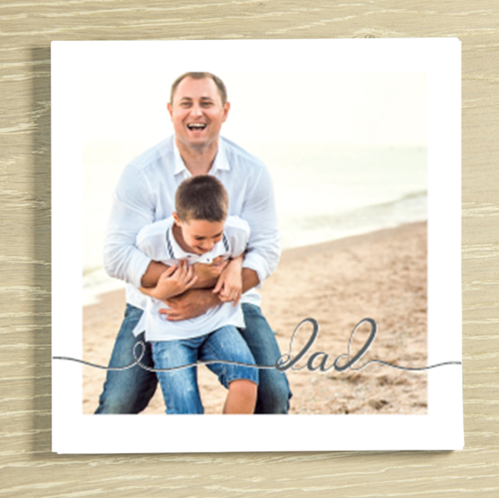 Picture of Dad script personalised chocolate card