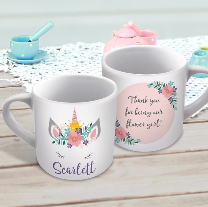 Picture of Unicorn Crown child's personalised mug