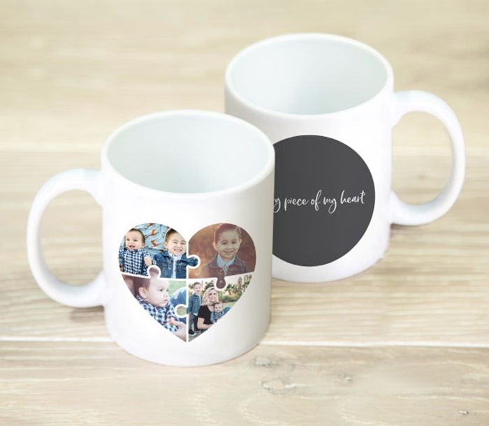 Picture of Heart jigsaw personalised mug