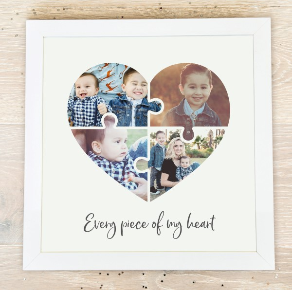Picture of Square Jigsaw heart photo personalised poster
