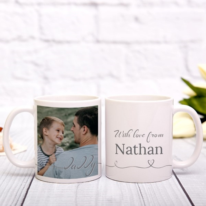 Picture of Daddy Script personalised mug
