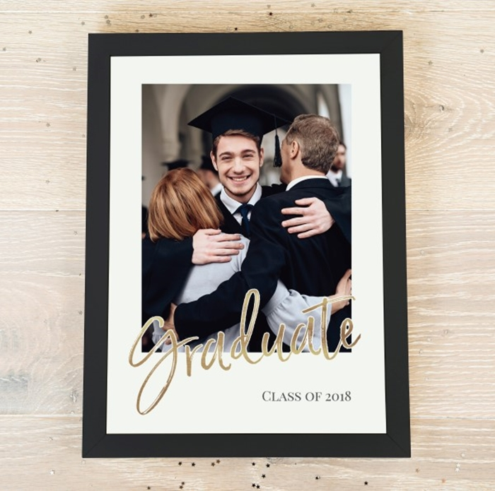 Picture of A4 Gold-effect Graduate script personalised poster