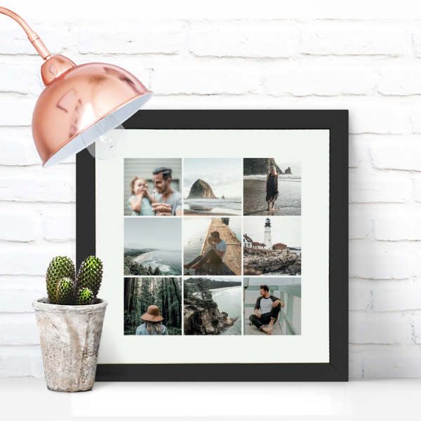 Picture of Square Instagram-style photo personalised poster