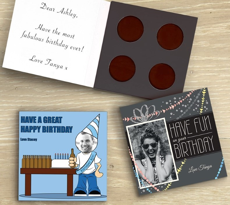 Picture of Fun & flirty personalised chocolate card