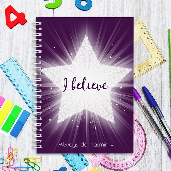 Picture of A5 Sparkly Star hardcover spiral notebook