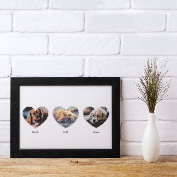 Picture of A4 3 Heart Photo personalised poster