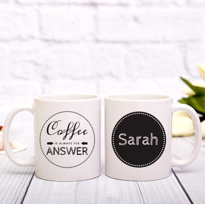Picture of Coffee is always the answer personalised mug