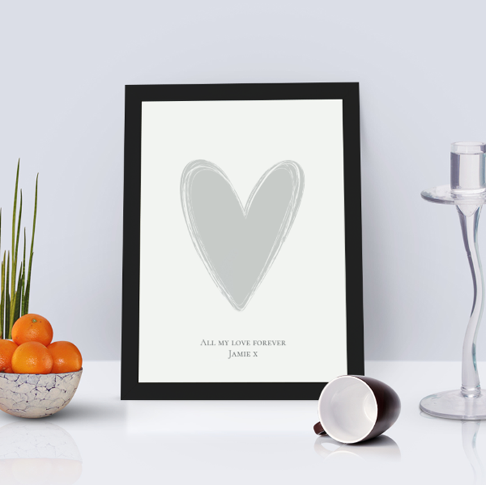 Picture of A4 Heart personalised poster