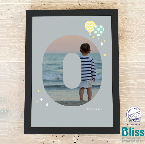 Picture of A4 Baby Alphabet 'O' personalised poster