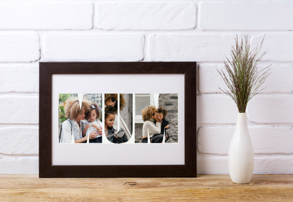 Picture of A4 Mum photo personalised poster