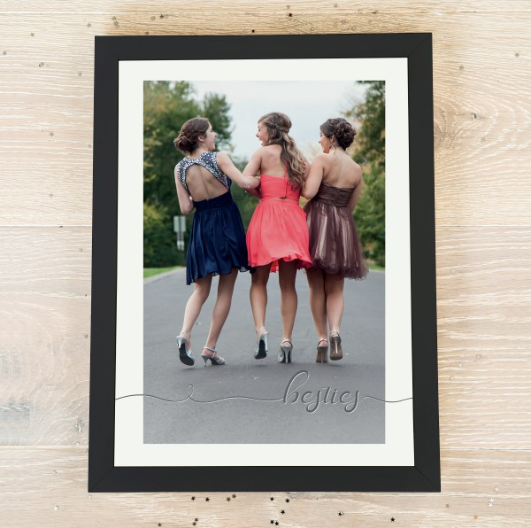 Picture of A4 Besties script personalised poster